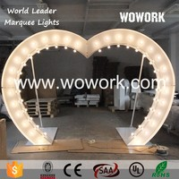 illuminated heart shape wedding arch