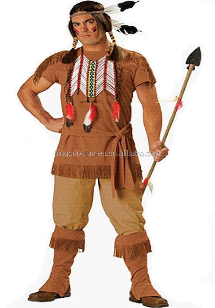 China Supplier Men's Native American Indian Costume for Adult