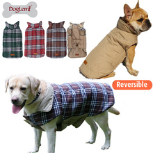 Promotional EngLish Design Checked Water Repellent Winter Apparel Pet Dog Winter Jacket Clothing