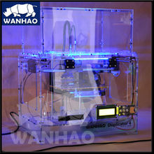 Wanhao 3D inkjet printer with dual extruder with cheap price