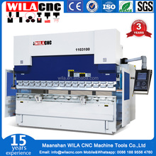 Export to Europe W67Y-100T/3200MM serviceable cnc press brake/ hydraulic used press brake