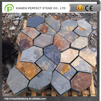 Stone Raw Slate For Decorative Floor Rusty Slate