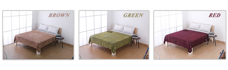 Wholesale stock plush receiving mora jacquard home bamboo blanket