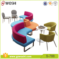 High-end Break-out furniture fabric reception cafe coffee shop leisure sofa office breakout seating