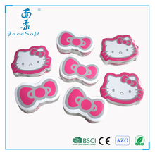 hello kitty magic compressed printed velour gift towel/compressed promotion washcloth