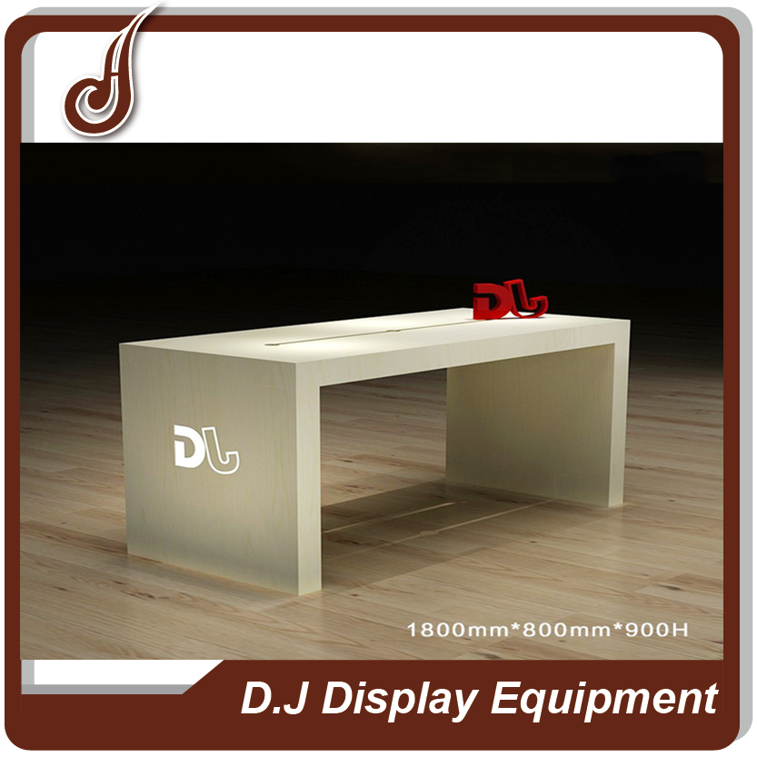 New design customized size MDF PD material mobile phone charger display stand