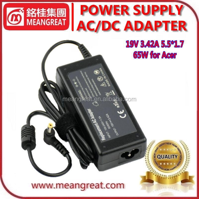 65W Laptop AC <strong>Adapter</strong> 19V 3.42A 5.5*1.7 for Acer