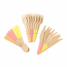 Recyclable Eco-Friendly Utensils Wooden Disposable Cutlery for picnics