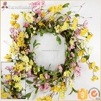 wreath hangers for doors, artificial flower for wreath, spring door wreaths