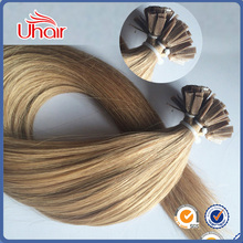 Top Grade 2016 Hot Products Double Drawn Wholesale Champion 100% Unprocessed Virgin I Tip Hair