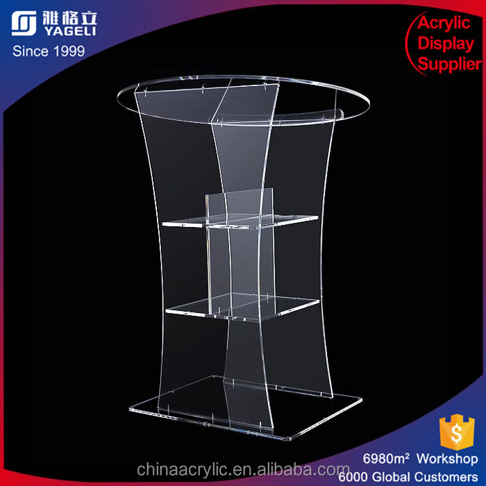Cheap price popular acrylic church podiums and pulpits