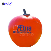 Z076 Custom size and logo replica fruit model inflatable,giant inflatable red apple for advertising,inflatable apple balloon