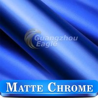 1.52x20m Pearl Blue Matte Chrome Cars Vinyl For Car Styling