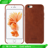 Wholesale leather mobile phone case oil wax smooth case for iphone 6 case