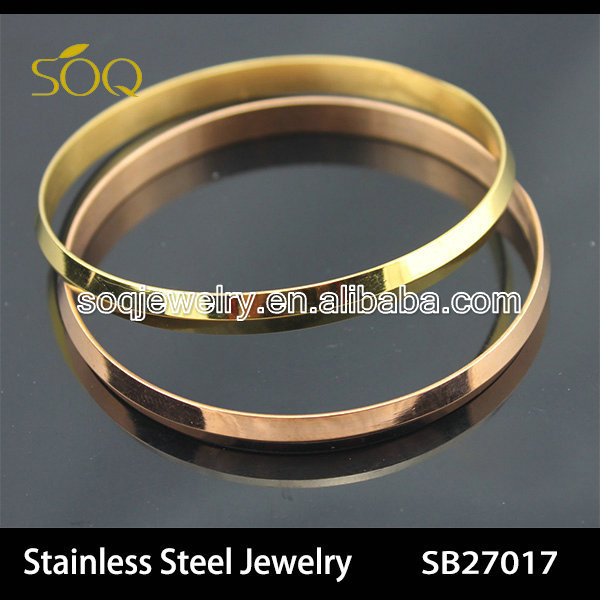 SB27027 2015 Fashion Stainless Steel Two Tone Enviromental Bangles for Men Jewelry