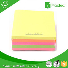 85*85*30mm fluorescent color paper cube