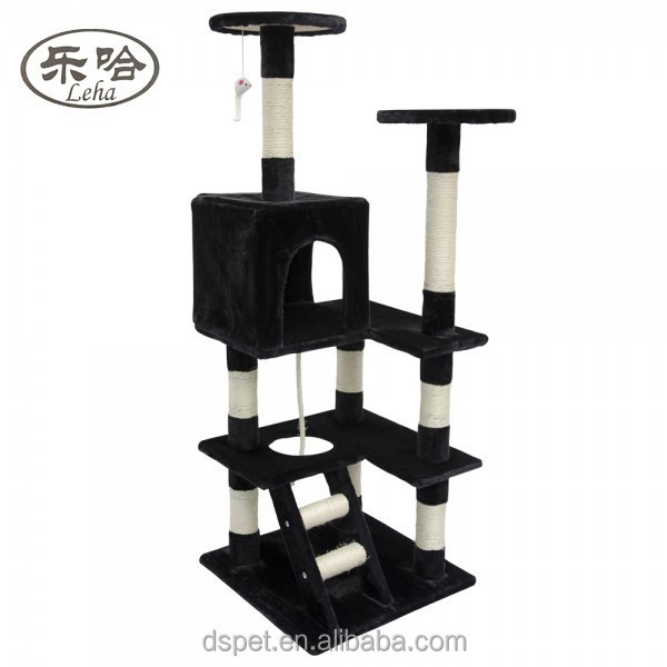 2015 New Wholesale indoor Cat Scratcher Cat Craft Deluxe Luxurious Sisal Cat Tree