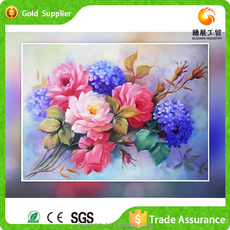 Abstract flower painting designs handmade mosaic 5d diamond diy painting