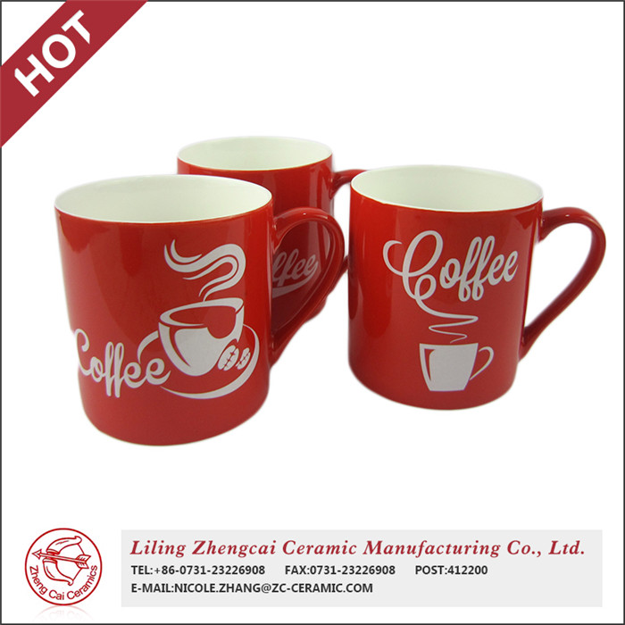 hot selling grade A glazed red Paintable Ceramic Coffee Mug