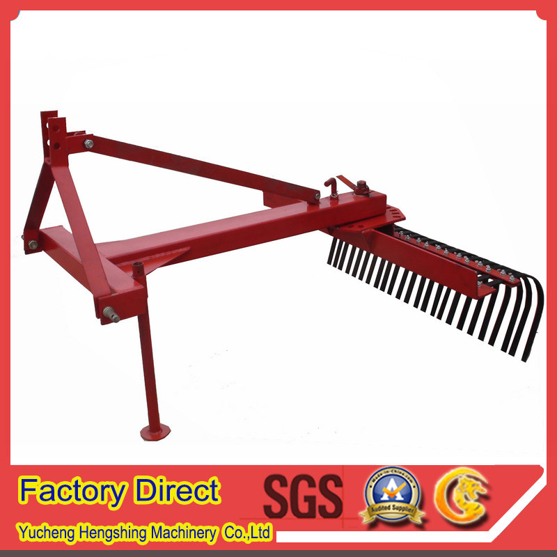 Farm land clearing machine tractor raker in agricultural