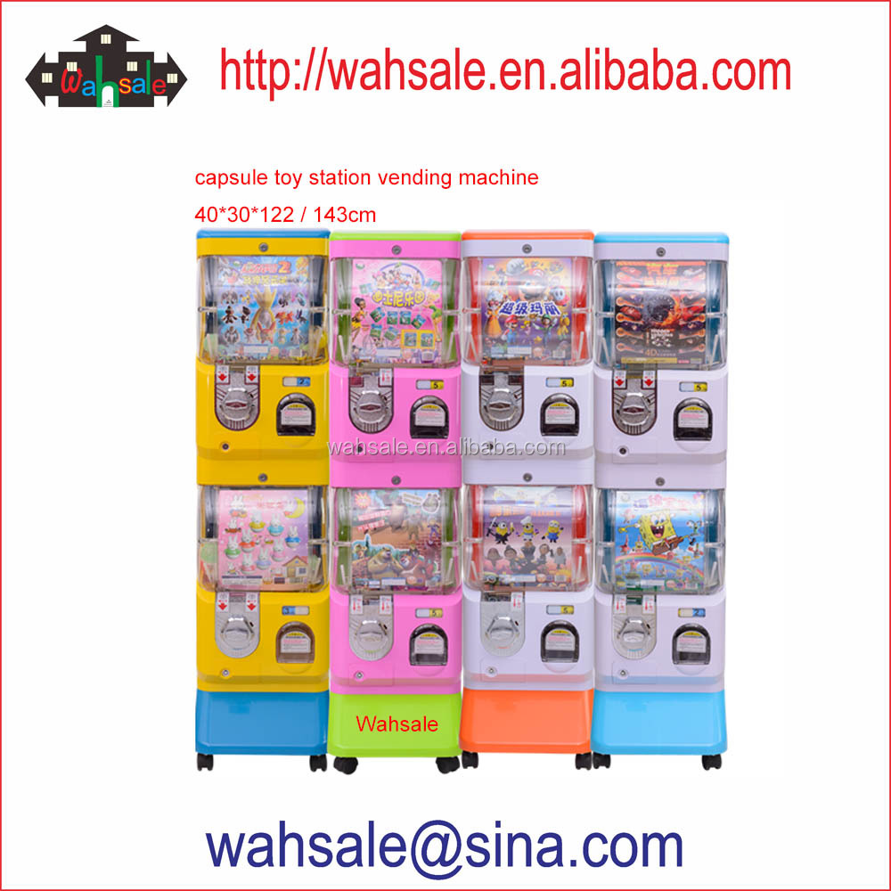 Wahsale coin operated capsule toy station vending machine