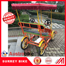 two person pedal car four person Tandem surrey bike hot sale