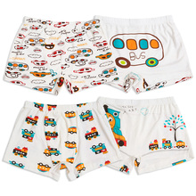 New fashion car printed Kids panties 2 to 10 year old young boys children modal underwear model