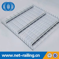 Warehouse steel wire mesh decking panel racking