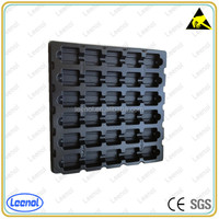 ESD plastic compartment tray for electronic components