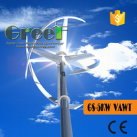 Super Quiet 5kw Wind turbine generator, Vertical windmill generator, 48V-500V,may used in homes, cottages, small farm, garden.