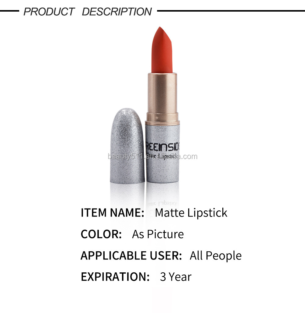 New style 12colors Long lasting Narural Waterproof Matte lipstick