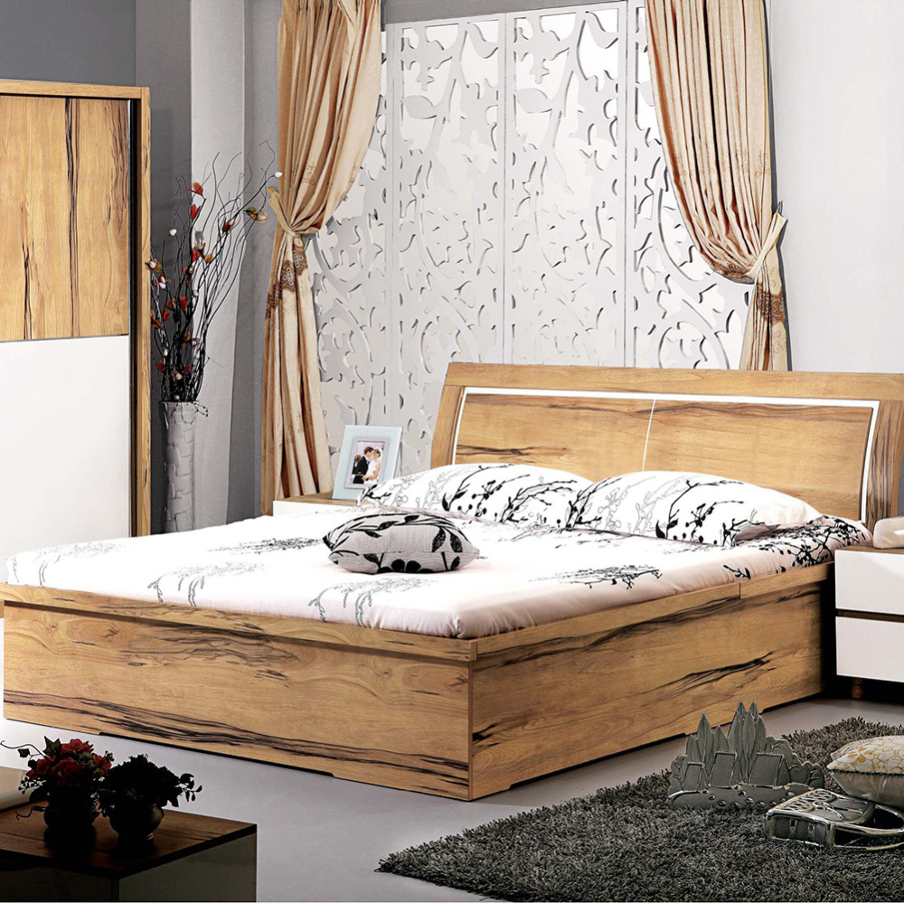 Cheap Furniture Bedroom Wooden Single Bed