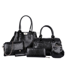 2016 Fashion bags ladies handbags 6pcs in 1 set lady handbag