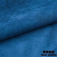 Synthetic types of red flocked fabric micro suede for sofa