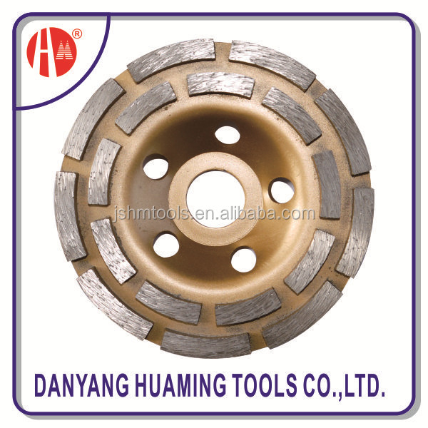 cup grinding wheel with guide segment for long life cutting hard and dense material