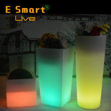 led mood light flower pot/garden led flower pot/beautiful led flower pot