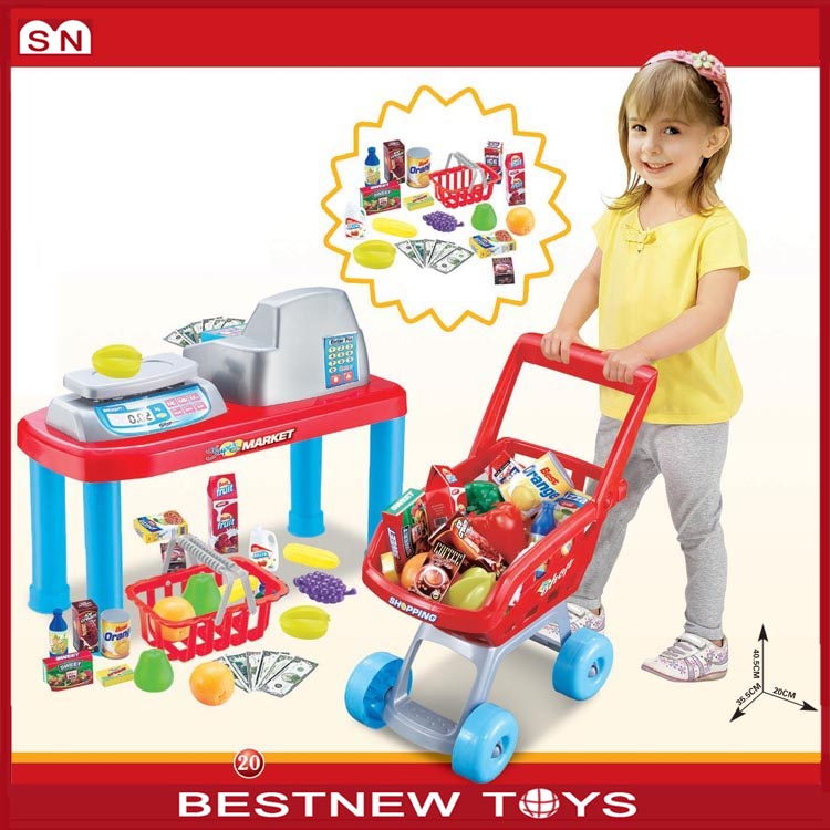Happy funny shopping cart children kid toy