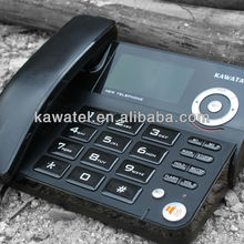 colored black trimline telephone with LCD display