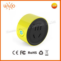 Smart WiFi switch socket and plug remote controlled via Android Or IOS smart phones