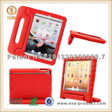 Red color modern childproof smart case for iPad air with handle