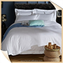 T300 100% cotton white 3cm satin stripe hotel Duvet Cover, Pillow Case and Bed Sheet