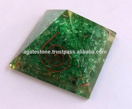 Best Brand Green Onyx Orgone Energy Chakra Pyramid : Wholesale Orgonite Supplier
