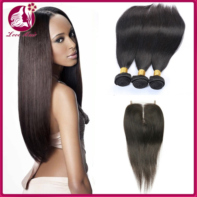 High Quality Lace Front Closure Wet And Wavy 3+1 List Of Hair Weave 4*4 Knots Straight 100 Human Hair Lace Closure
