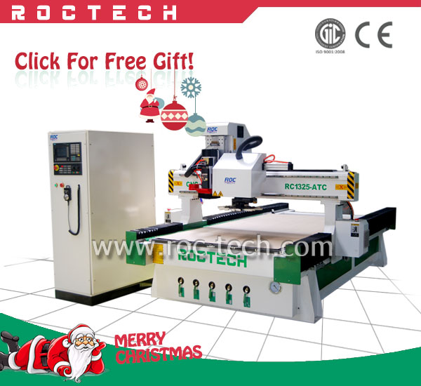 Best price! RC1325-ATC 3 axis ATC CNC machine/ machine wood carving for woodcutting