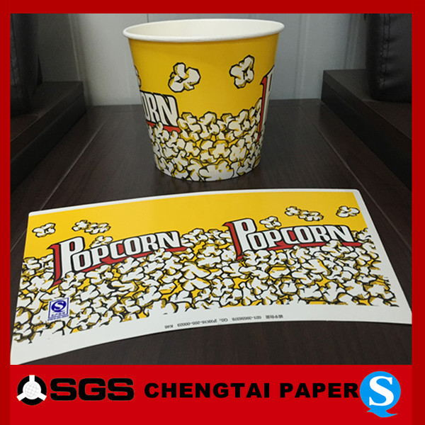 CHENGTAI food grade hot chips paper cup with flexo printing
