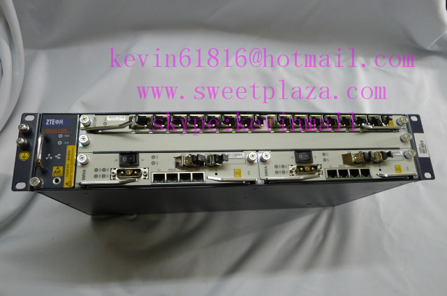 "ZTE 19"" inch ZXA10 C320 EPON or GPON OLT high-integration equipment, wtih 10GE uplink board SMXA/3 with a 16 ports card"