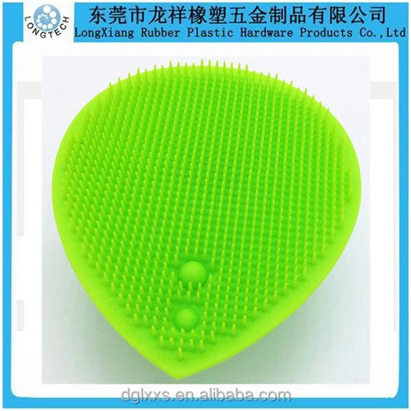 Silicone face cleaning massage brush