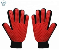 259 TPE tips Wholesale high quality pet dog / cat grooming baths gloves or brush with cheap price