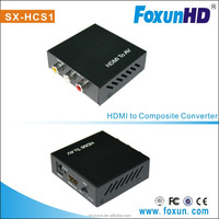 Mini Converter HDMI to Composite/AV/RCA/CVBS Support NTSC and PAL two standard TV formats