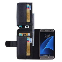 for Samsung S7 edge Phone Bag Luxury PU Leather Wallet Pouch Multifunction Flip Cover Case for Galaxy S7 Card Slots Photo frame